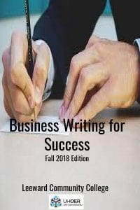 Business Writing for Success Fall 2018 Edition