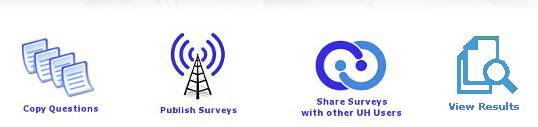 Screenshot of CES, Copy Questions is the first icon