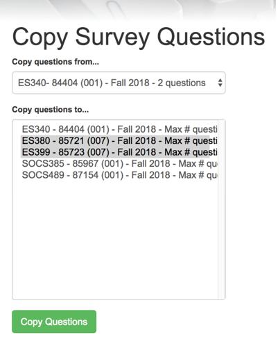 Copy Survey Questions Screenshot