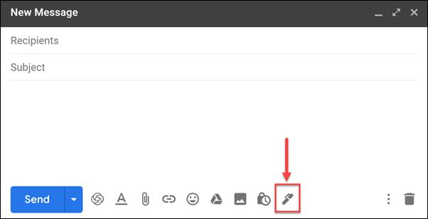Gmail signatures button